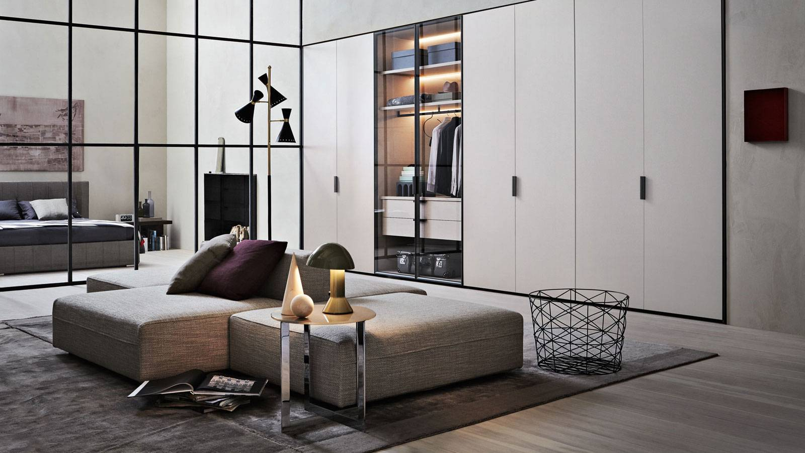 bedroom of design by Vincent Van Duysen for Molteni
