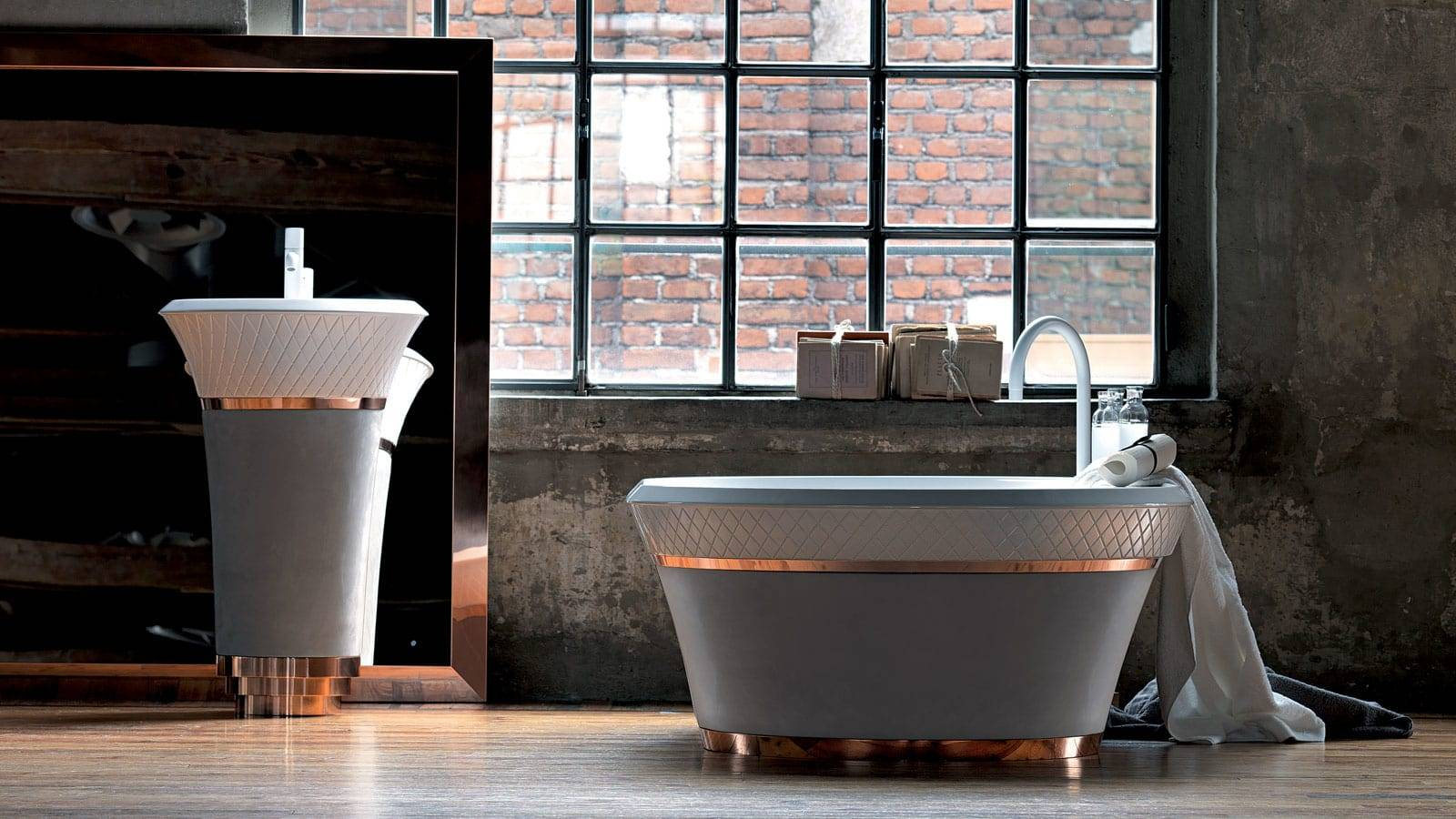 contemporary bathroom furniture by Michael Schmidt for Falper