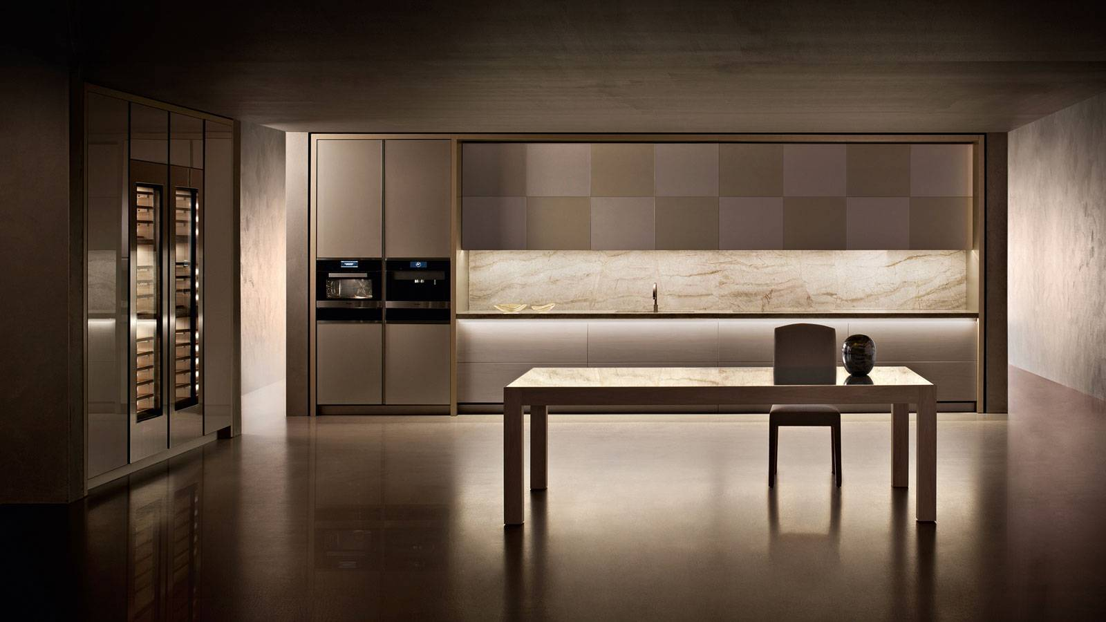 contemporary kitchen furniture by Giorgio Armani for Dada