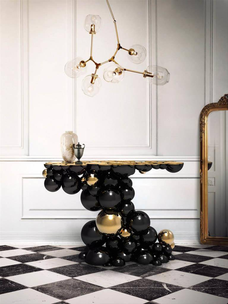 boca do lobo sideboard black and gold