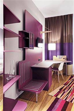 PURPLE MODERN DESK
