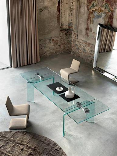 GLASS TABLE BARTOLI DESIGN