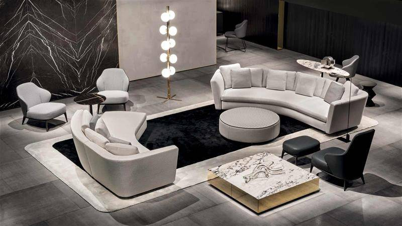 contemporary rug by Rodolfo Dordoni for Minotti