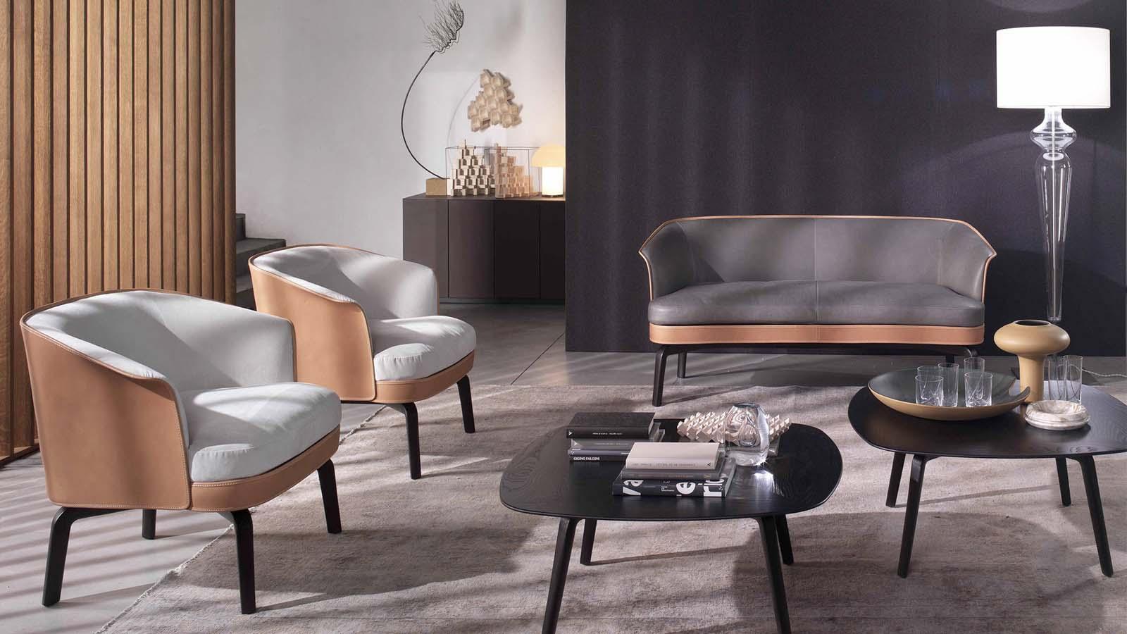 The design of Poltrona Frau Sofas and Armchairs   Sag80