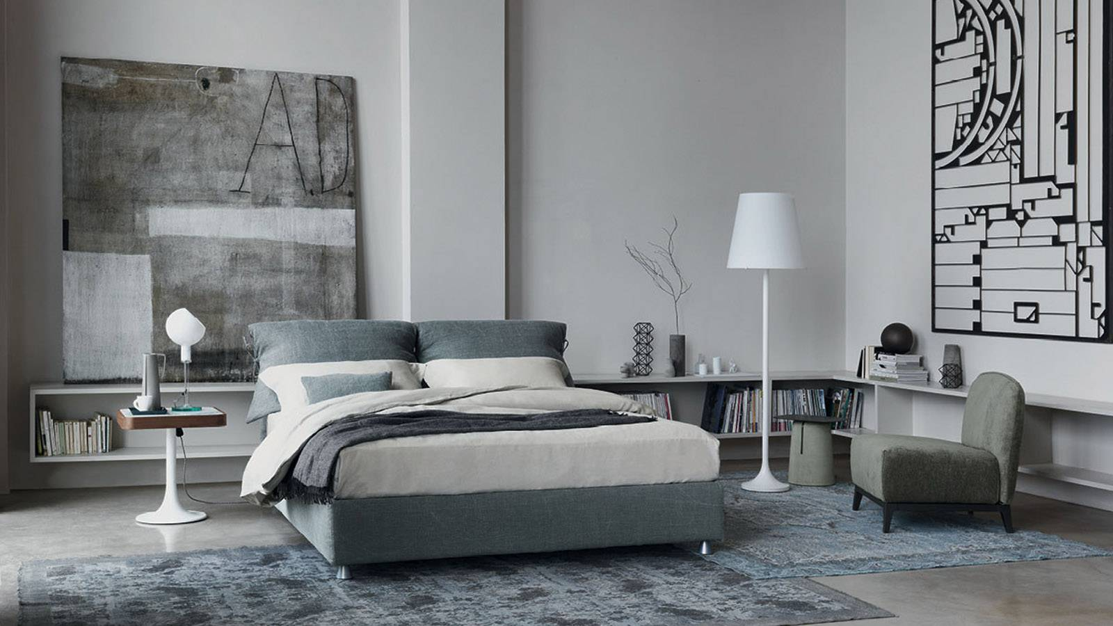 Flou beds modern style bedroom