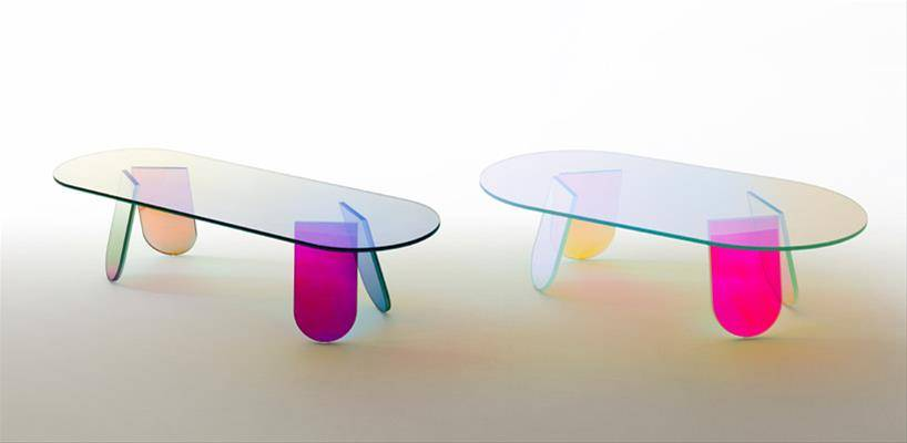 contemporary furniture design shimmer small table urquiola