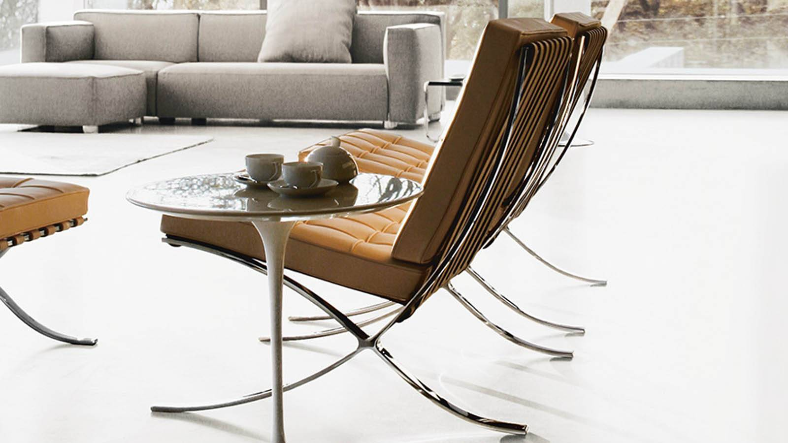 The barcelona chair by mies van der rohe sag80 - Mies van der rohe muebles ...