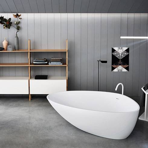 Agape bathtub white wooden design