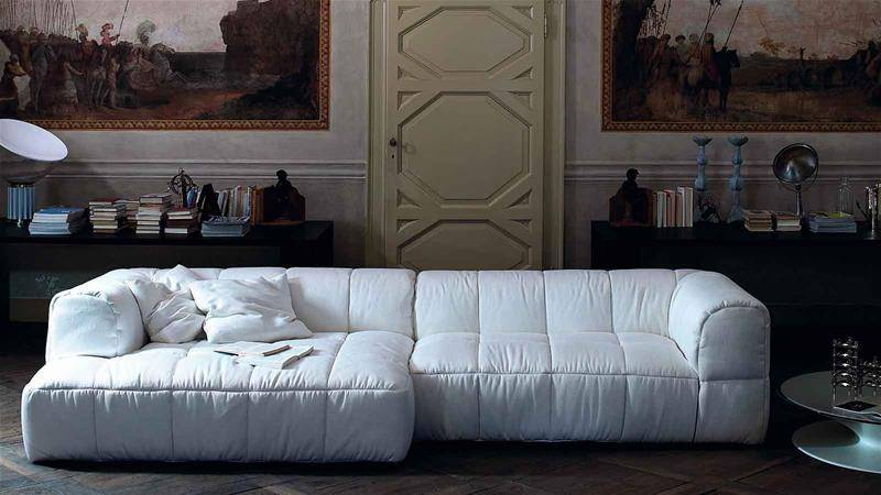 strips sofa arflex Cini Boeri living room modular design white