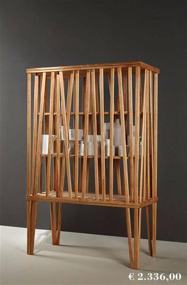 Special offers on Porro products, Mikado cabinet made of ash wood presented on a gray background
