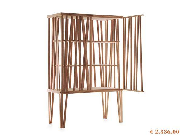 Special offers on Porro products, Mikado cabinet in ash wood presented on white background