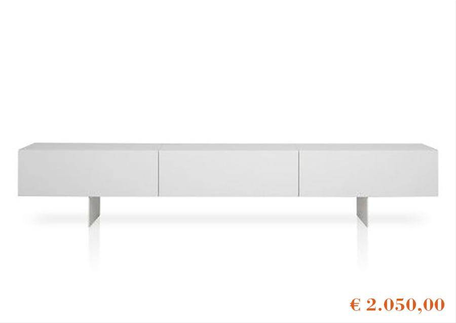 Special offers on Porro products, Modern cabinet lacquer in white color on white background