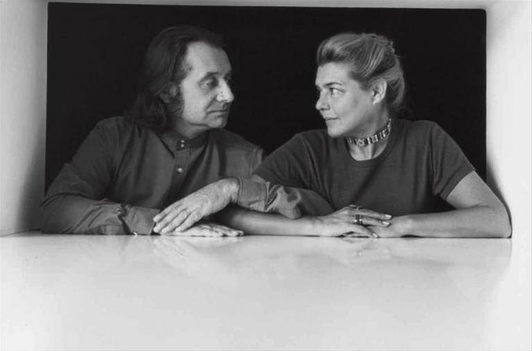 Ettore Sottsass with his wife Nanda Pivano