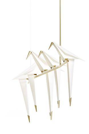 The Moooi Perch Light Branch Lamp on a white background