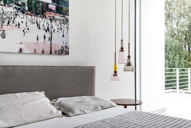 Picture of the Flauti lamp by Giopato & Coombes in a bedroom
