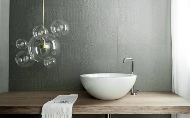 Picture of the Bolle lamp by Giopato & Coombes in a bathroom