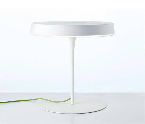 design_furniture_trends_2018 olsen t jorge pensi white table lamp green neon cable scandinavian