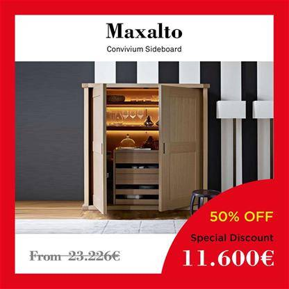 maxalto convivium sideboard The oak grey structure