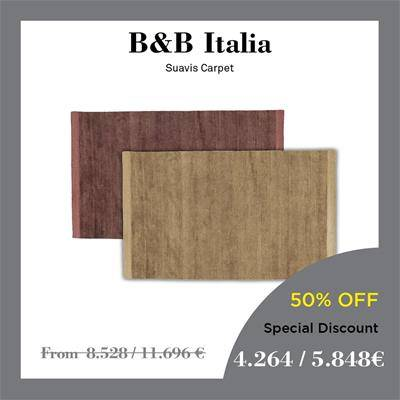 beb italia suavis carpets natural and prune colours