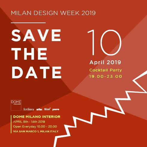 Fuorisalone 2019 Arflex Dome Milano interior Blux lightings Porro storage Arclinea kitchen nylon