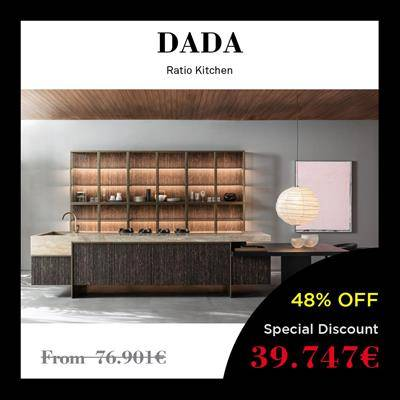 black friday furniture deals 2019 Arclinea Boffi Dada Ratio dark oak LED light