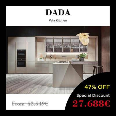 black friday furniture deals 2019 Arclinea Boffi Dada Vela island ivory yellow glass door