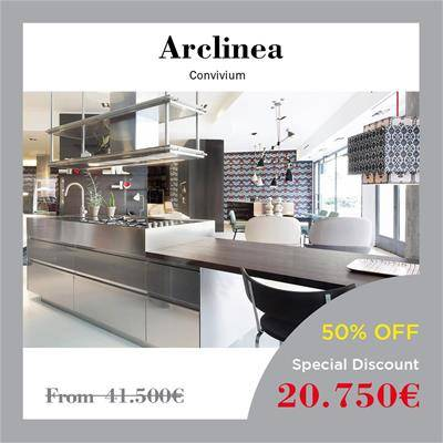 black friday furniture deals 2019 Arclinea Boffi Dada Convivium Antonio Citterio fumed oak inoxsteel