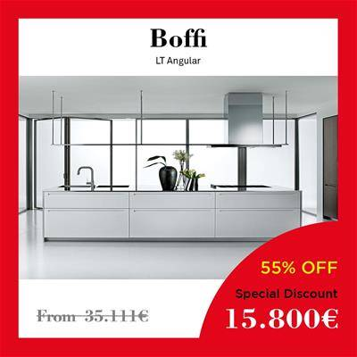 black friday furniture deals 2019 Arclinea Boffi Dada LT augular oak door Inox steel