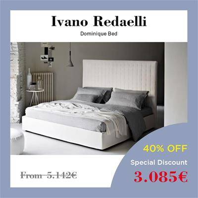 2019 Black Friday furniture deals Sag80 Ivano Redaelli Dominique bed Kors fabric Herion calf leather