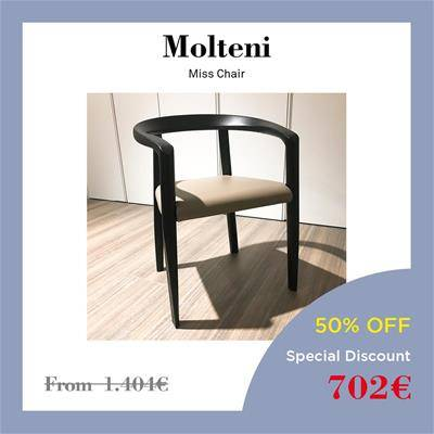 2019 Black Friday furniture deals Sag80 Molteni Miss chair black ashwood and leather seat